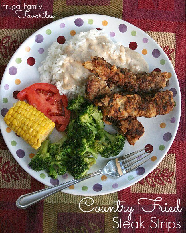 A super quick weeknight dinner idea... chicken fried steak recipe. Kid-friendly too.