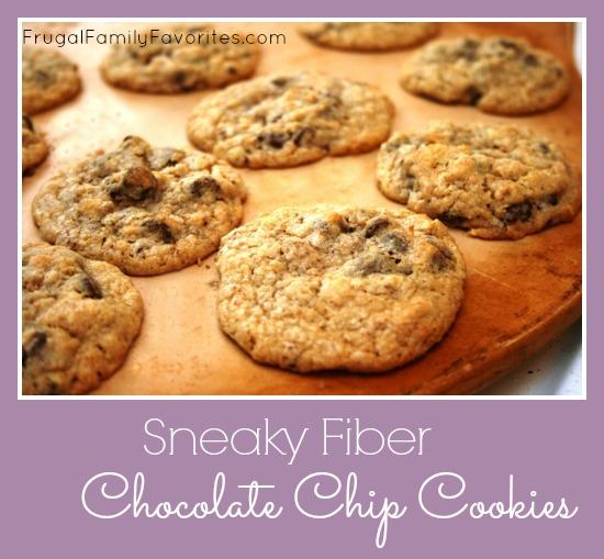 sneaky fiber-packed chocolate chip cookies