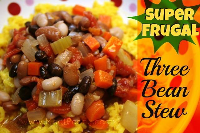 super frugal three bean stew recipe