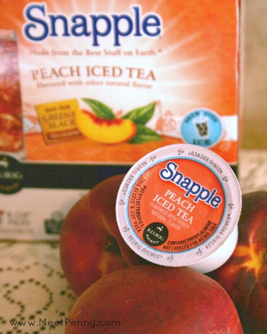Keurig Snapple Peach Tea - I want to try the raspberry flavor too!